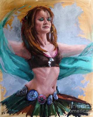 Painting - Gipsy Belly Dancer by Viktoria K Majestic