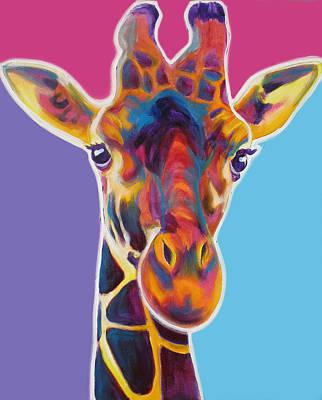 Animals Paintings - Giraffe - Marius by Dawg Painter