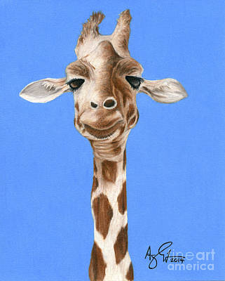 Giraffe Drawing - Giraffe 2 by Troy Argenbright