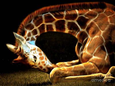 Giraffe 20150211brun Art Print by Wingsdomain Art and Photography