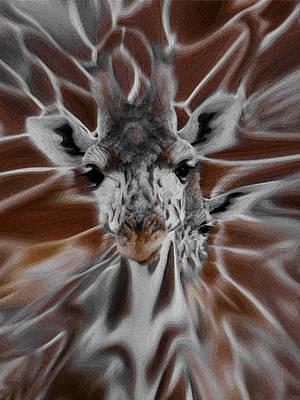 Giraffe Abstract Art Print by Ernie Echols