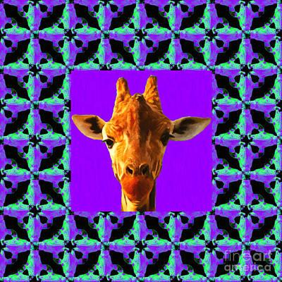 Playful Digital Art - Giraffe Abstract Window 20130205p128 by Wingsdomain Art and Photography