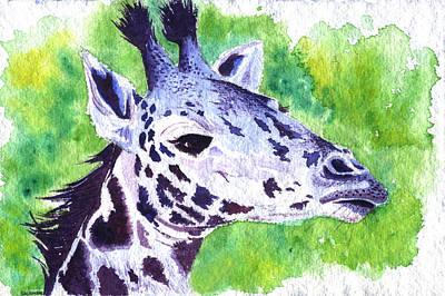 Painting - Giraffe by Brenda Salamone