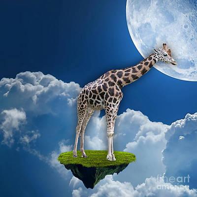 Giraffe Mixed Media - Giraffe Flying High by Marvin Blaine