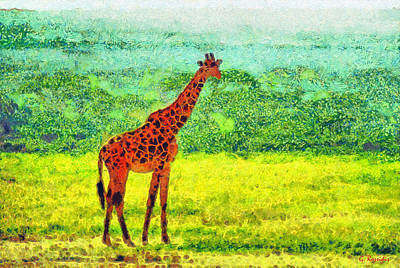 Africa Painting - Giraffe by George Rossidis