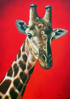 Giraffe Art Print by Ilse Kleyn