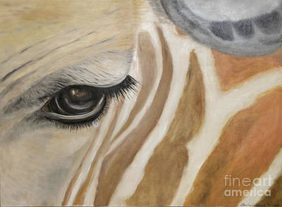Painting - Giraffe In Captivity by Barbara Anna Knauf