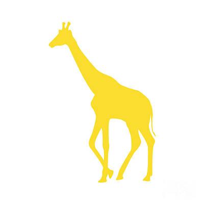 Digital Art - Giraffe In Golden And White by Jackie Farnsworth