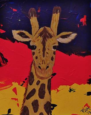 Painting - Giraffe In Prime 2 by Frank Middleton
