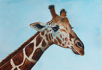 Giraffe Wall Art - Painting - Giraffe by James Zeger