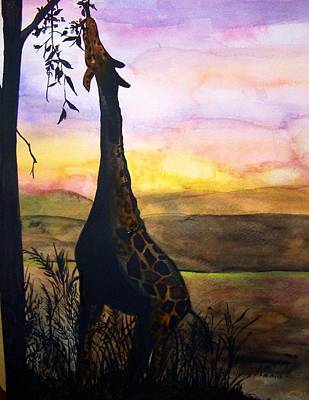Painting - Giraffe by Laneea Tolley