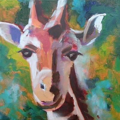 Giraffe Painting - Giraffe by Liesbeth Verboven