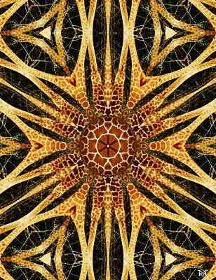 Digital Art - Giraffe Mandala I by Maria Watt