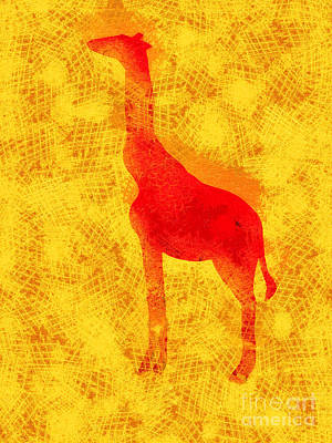 Summer Fun Digital Art - Giraffe by Pixel Chimp