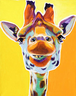 Giraffe - Sunflower Art Print by Alicia VanNoy Call