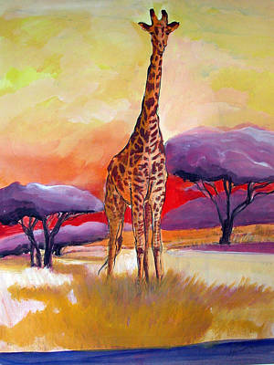 Mixed Media - Giraffe by Synnove Pettersen