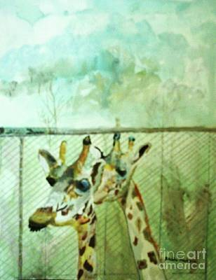Painting - Giraffe World by Paula Maybery