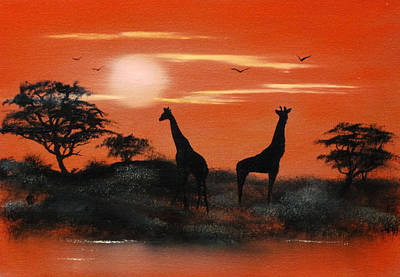 Cynthia-adams-uk Painting - Serengeti Sunset Sold by Cynthia Adams