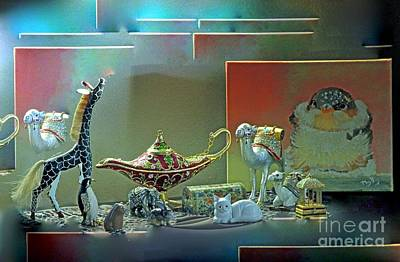 Photograph - Giraffes Camels And Things by Phyllis Kaltenbach
