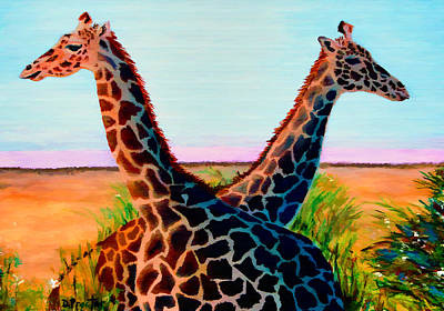 Painting - Giraffes by Donna Proctor