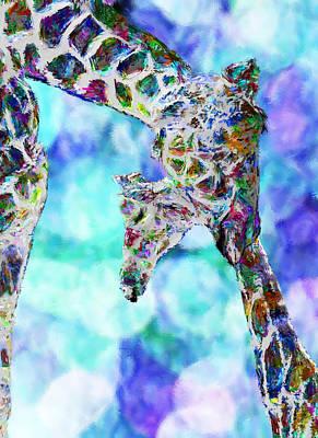 Giraffes - Happened At The Zoo Art Print