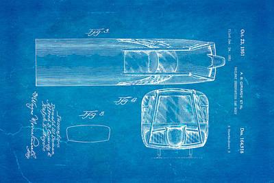 Girardy Railway Observation Car Patent Art  3 1951 Blueprint Art Print by Ian Monk