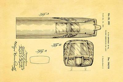 Girardy Railway Observation Car Patent Art  3 1951 Art Print by Ian Monk