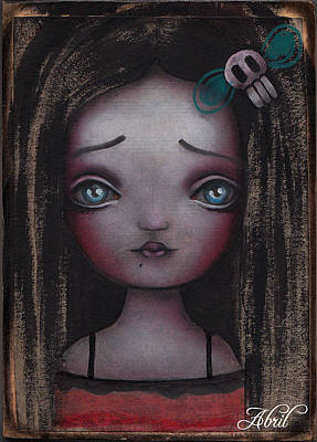 Pop Surrealism Painting - Girl #2 by  Abril Andrade Griffith