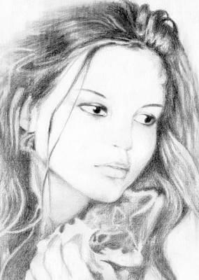Girl Art Print by Ahmed Amir