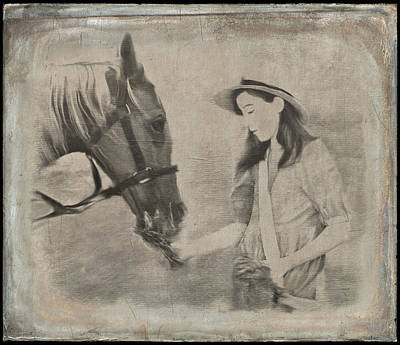 Photograph - Girl And Her Horse by Kim Swanson