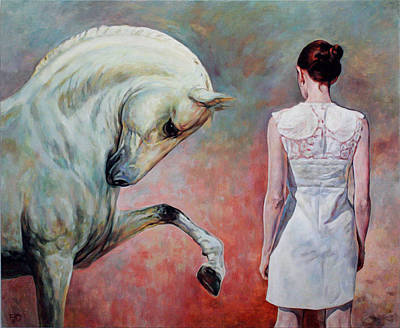 Painting - Girl And Horse  by Jana Fox