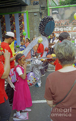 Photograph - Girl At Carnival Social Occasion Celebrations by Richard Morris