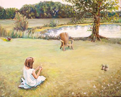 Painting - Girl At Pond by Jennifer Lycke