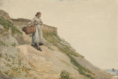 Key West Painting - Girl Carrying A Basket by Celestial Images