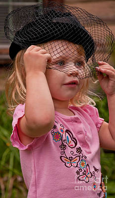 Photograph - Girl Dress Up Vintage Hat by Valerie Garner