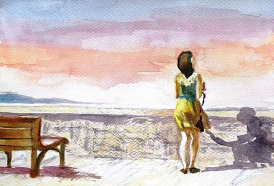 Girl Enjoying The View Original by Uma Krishnamoorthy