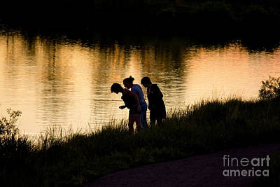 Steven Krull Royalty-Free and Rights-Managed Images - Girl Fishing by Steven Krull