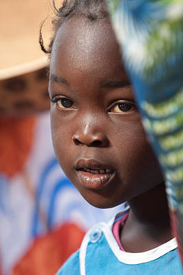 Photograph - Girl From Keur Simbara Village Senegal by Judith Barath