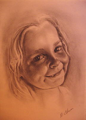 Girl From Neighbourhood Arisha Art Print by Mikhail Savchenko