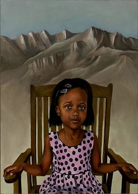 Lesotho Painting - Girl From The Mountain Kingdom by Jolante Hesse