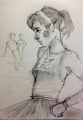 Girl Print by H James Hoff