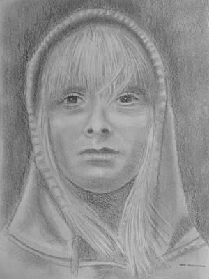 Hoodies Drawing - Girl Hoodie by Paul Blackmore