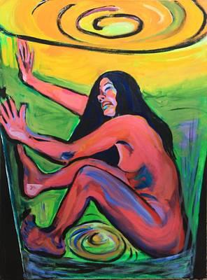 Girl In A Glass # 8 Art Print by Susi LaForsch