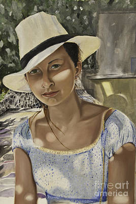 Painting - Girl In A Hat by James Lavott