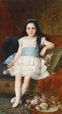Girl In A White Dress Print by Mountain Dreams
