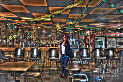 Photograph - Girl In Bar by Dan Friend