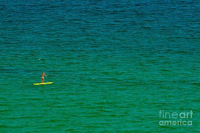 Photograph - Girl In Bikini On Yellow Paddle Board by Ben Sellars