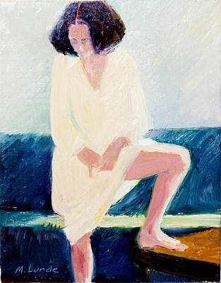 Nightshirt Painting - Girl In Nightshirt by Mark Lunde