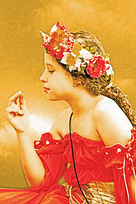 Wild And Wacky Portraits Rights Managed Images - Girl in Red Royalty-Free Image by Ruben  Flanagan