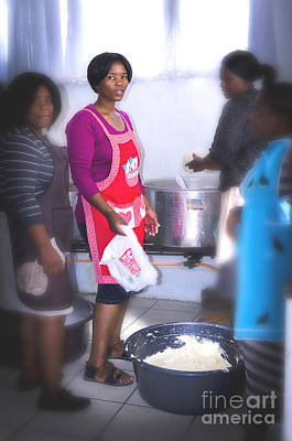 Photograph - Girl In The Kitchen by MaryJane Armstrong